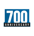 700th anniversary icon birthday logo vector image vector image