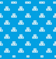 abc cubes pattern seamless blue vector image vector image