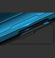 abstract blue metallic black line circuit cyber vector image vector image