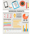 Baby infographic vector image vector image