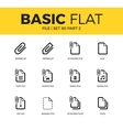 Basic set of file icons vector image vector image