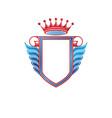 blank heraldic coat arms decorative emblem vector image vector image