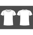 Blank t-shirt template Front and back