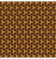brown hexagon pattern background stock vector image vector image