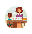 child psychologist vector image vector image