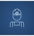 Coal miner line icon vector image vector image