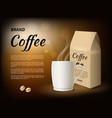 coffee advertising poster design template with vector image vector image