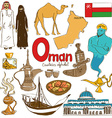 Collection of Oman icons vector image vector image