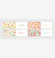 collection of seasonal horizontal banner templates vector image vector image