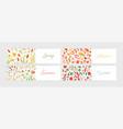 collection seasonal horizontal banner templates vector image vector image