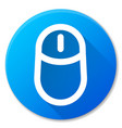computer mouse blue circle icon vector image