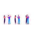 couple characters quarrel swear during covid19 vector image vector image