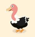 cute cartoon vulture vector image