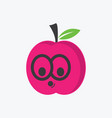 cute organic fruit character vector image