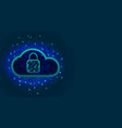 cyber security concept cloud storage with data vector image vector image