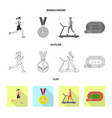 design of sport and winner symbol set of vector image vector image