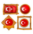 different frame design for flag of turkey vector image vector image