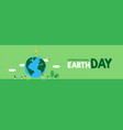 earth day banner of people celebration vector image