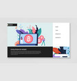 evolution money cash and bitcoin web page vector image