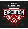 Expedition Mountain climbing Climber vector image