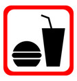 fast food icon on a white background vector image vector image
