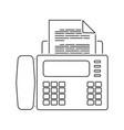 fax icon vector image