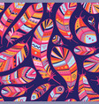 feathers seamless pattern in boho style vector image vector image