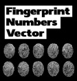 fingerprint numbers vector image