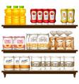 food item on shelf vector image vector image