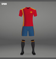football kit of spain 2018 vector image