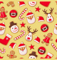 gingerbread man cookies and santa claus candy vector image