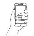 gps navigation screen pointer map car vehicle vector image