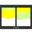 green and yellow watercolor background vector image