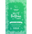 green merry christmas party template vector image vector image