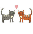 hand drawn a pair of cats vector image vector image