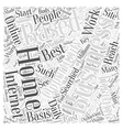 Income Opportunity Home Based Business Word Cloud vector image vector image