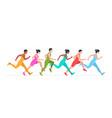 jogging people vector image