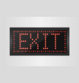 led lights exit sign vector image vector image