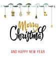 Merry christmas and happy new year 2017 vector image vector image