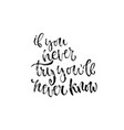 modern lettering inspirational textured quote for vector image