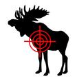 moose crosshair vector image