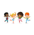 multiracial school kids boys and girls are vector image