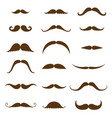 mustache collection set vintage and retro vector image