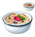 oatmeal isolated on white background cartoon vector image vector image