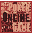 onlinepoker text background wordcloud concept vector image vector image
