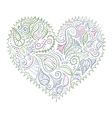 ornamental colorful heart on white background vector image