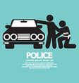 Police with The Law Offender vector image vector image
