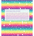 rainbow text vector image vector image