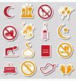 ramadan islam holiday color stickers set eps10 vector image vector image