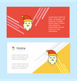 santa clause abstract corporate business banner vector image vector image